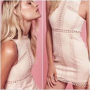 Free People *Pink *SKYSCRAPER Bodycon Mini Dress